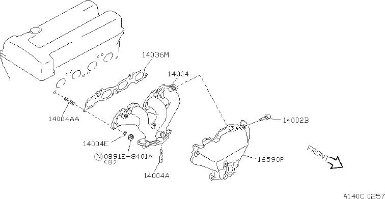 nissan 300zx clip hose  clip wiring harness  fed  cal