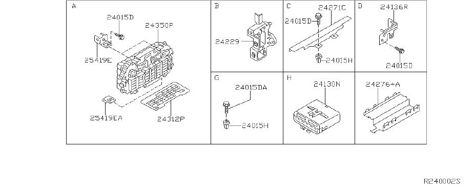 Nissan Pathfinder Fuse Box Screw. FED, CAL, DUCT - 01466 ...