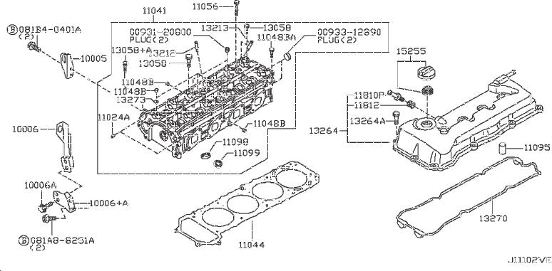 Nissan Frontier Engine Expansion Plug  Assembly  Head