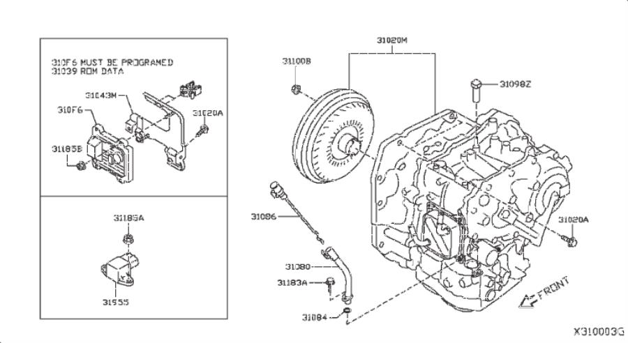 Nissan Versa Note Hose Breather  Fitting  Assembly  Cooler