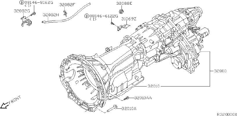 Nissan Sentra Bolt  Fitting  Transmission  Manual