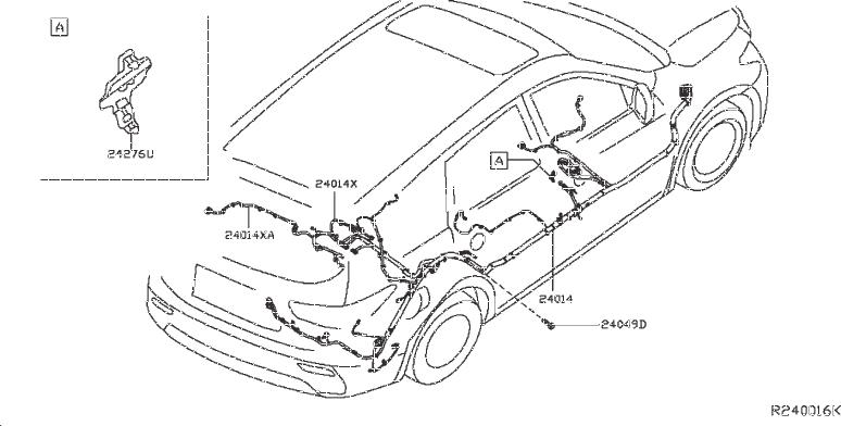Nissan Pathfinder Parking Aid System Wiring Harness  Rear