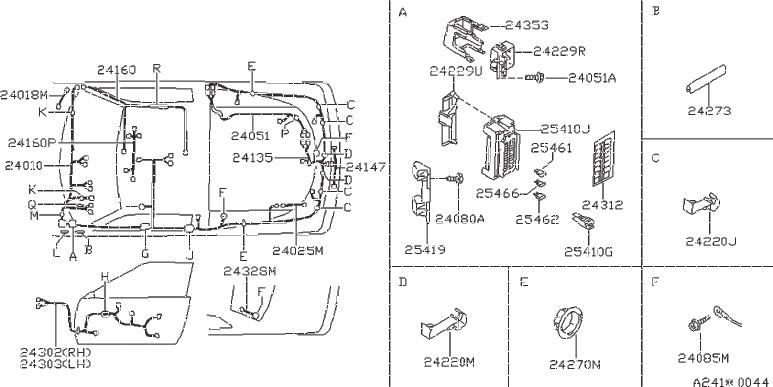 240Sx Wiring Harness Diagram from parts.nissanoflumberton.com