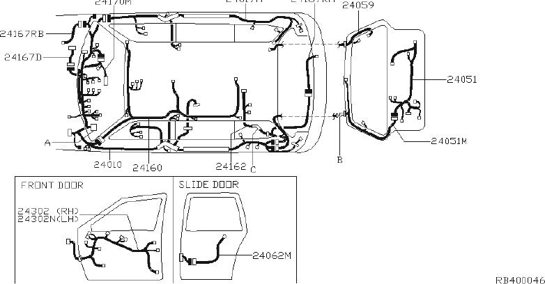 nissan quest cover relay box   rear   clip  body  room